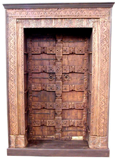 Indian Carved Wood Doors,Indian Antique Wooden Doors,Indian Hand Carved Wood Doors,Indian Antique Wooden Doors Exporter