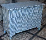 wave bone inlay drawer chest