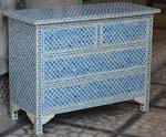 blue bone inlay drawer chest
