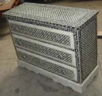 3 drawer bone inlay drawer chest
