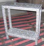 grey bone inlay side table