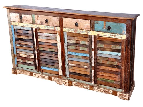 Shutter Reclaimed Wood Sideboard