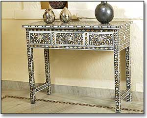 Bone Inlay Console Table S Antiques Indian ...